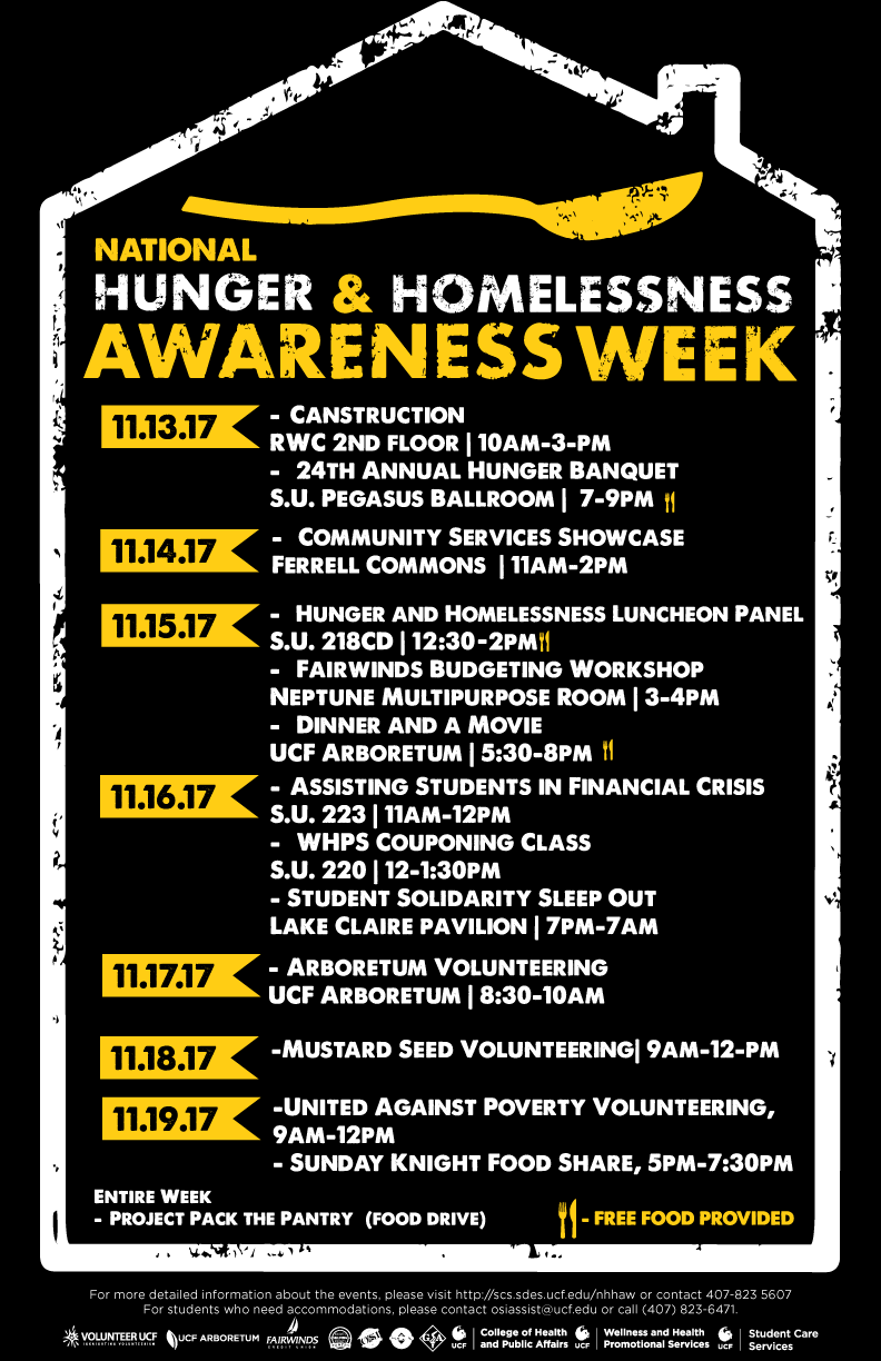 Scholarships For College Students >> National Hunger and Homelessness Awareness Week ...